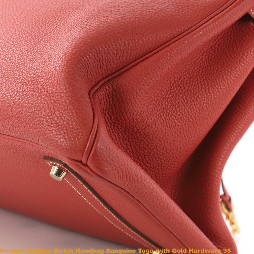 f1613b68dd Hermes Replica Birkin Handbag Sanguine Togo with Gold Hardware 35 ...