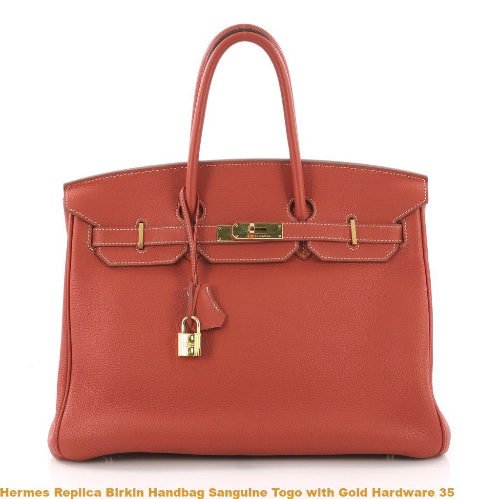 e17504fe0c4c Hermes Replica Birkin Handbag Sanguine Togo with Gold Hardware 35 – High  Quality Replica Hermes Handbags Birkins