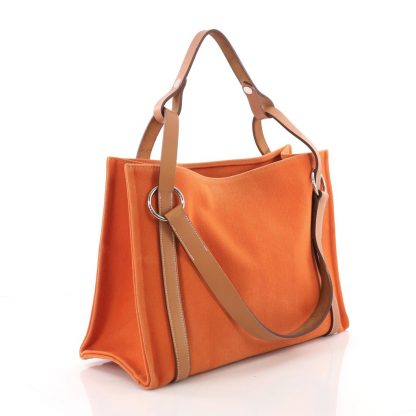 edd3a0aeb7cb Hermes Replica Cabalicol Tote Toile with Leather PM – High Quality ...